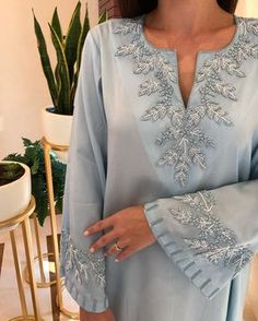 Best 12 Book your dresses stiched and customised in any color and size. Order at 918968922443 Sizes available S to Shipping worldwide✈ For booking WhatsApp or call at 8968922443 – SkillOfKing. Hand Embroidery Dress, Kurti Embroidery Design, Embroidery Neck Designs, Couture Embroidery, Embroidery Fashion, Abaya Designs, Kurta Designs Women, Saree Blouse Designs, Sari Blouse