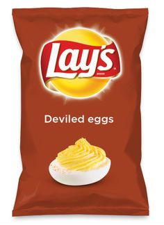 Wouldn't Deviled eggs be yummy as a chip? Lay's Do Us A Flavor is back, and the search is on for the yummiest chip idea. Create one using your favorite flavors from around the country and you could win $1 million! https://www.dousaflavor.com See Rules.