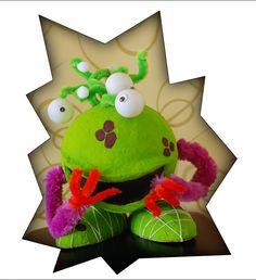 Onze surprise in 2012 een alien... heel schattig, gemaakt van papier maché en pingpong ballen...