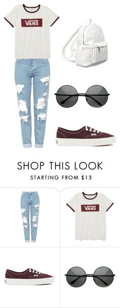 """Untitled #216"" by karenrodriguez-iv on Polyvore featuring Topshop, Vans and 7 Chi"