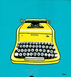 Yellow Vintage Typewriter by Ryan Conners