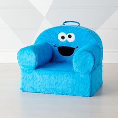 Sale ends soon. Our Large Furry Cookie Monster Nod Chair features none other than Sesame Street's iconic sweet tooth. Monster Nursery, Kids Armchair, Cookie Monster Party, Sesame Street Cookies, Cute Furniture, Kids Table And Chairs, Side Chairs, Toddler Chair, Monster Birthday Parties