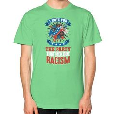 Kick out racism Unisex T-Shirt (on man)