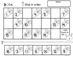Spring Count to 20 includes a Math Center Activity and Worksheets to reinforce counting and number order to 20.