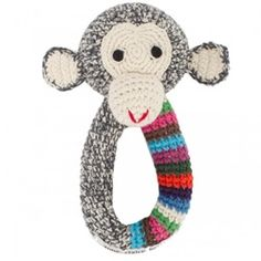 Crochet Chimp Ring - Stripy D