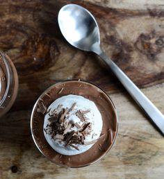 Milk Chocolate Mousse with Coconut Whipped Cream