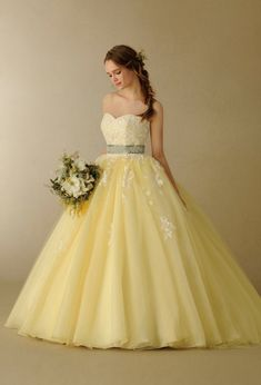 Princess Quinceanera Dresses Ball Gown for Girls Sweet 16 Dresses, 15 Dresses, Pretty Dresses, Beautiful Dresses, Summer Dresses, Bridal Gowns, Wedding Gowns, Yellow Dress Summer, Yellow Maxi