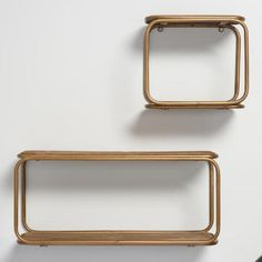 One of my favorite discoveries at WorldMarket.com: Wood and Brass Metal Wall Storage