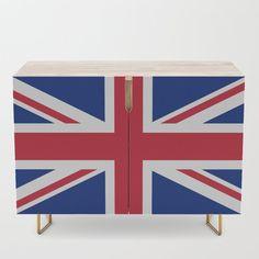 UK Flag Union Jack Credenza by flagsoftheworld Uk Flag, Modern Credenza, Office Cabinets, Flags Of The World, Bar Carts, Veterans Day, Tv Stands, Union Jack, Walnut Finish