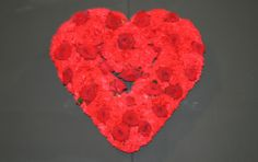 Heart shaped floral design .. an expression of love