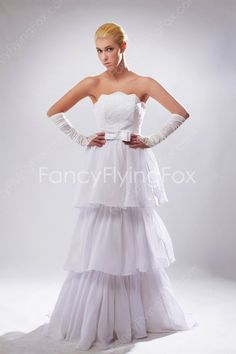 fancyflyingfox.com Offers High Quality Strapless Neckline Sleeveless A-line Full Length Celebrity Wedding Dresses With Beads    ,Priced At Only US$235.00 (Free Shipping)