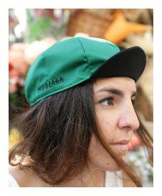 Moozaka Cycling Cap-Green with Black brim and Black embroidery Logo #moozaka #moozakabikestuff #builttoride #cyclingcap