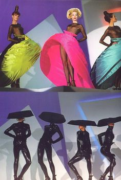 80s-90s-supermodels: Thierry Mugler F/W 1995/'96Photographer : Patrick Stable