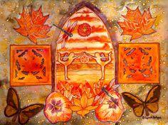 Sacral chakra fairies watercolor by yoga fairy