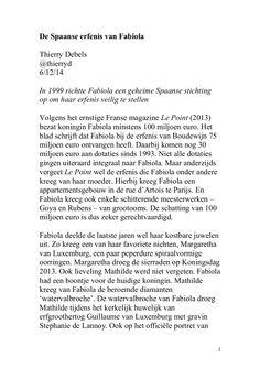 """""""De Spaanse erfenis van Fabiola"""" by Thierry Debels via slideshare"""