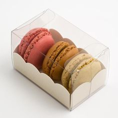 Macaroons make wonderful favours and these boxes are perfect for keeping them safe while also showing them off to their best. The box is easy to (Chocolate Milkshake Packaging)
