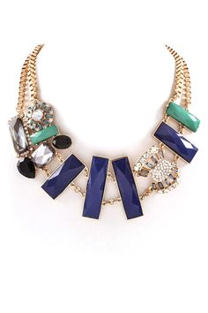 Gail Necklace in Navy