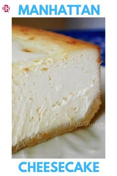 Manhattan Cheesecake is THE BEST cheesecake (and the last you'll ever need) I have ever made. It's a family fav and soon to be yours! Best Cheesecake, Cheesecake Recipes, American Cheesecake, Easy Desserts, Delicious Desserts, Dessert Recipes, Dessert Bars, Cupcake Recipes, Pastries