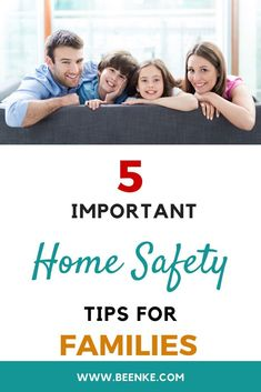 Keep your family safe! 5 important home safety tips to keep your house secure and accident free. Safety ideas for kids and for elderly relatives. Are you doing all you can to protect your family? See complete article to build safety awareness. Single Parenting, Parenting Advice, Kids And Parenting, Family Safety, Kids Safety, Home Safety Tips, Safety Awareness, The More You Know, Family Kids