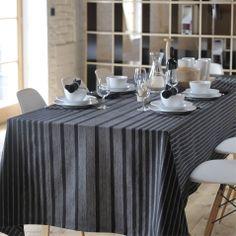 Nappe rectangulaire 100% coton rayures assorties SORAYA Winkler