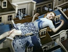 Dreamy Paintings of Women on Buildings by artist Tran Nguyen  See many more from this series on Colossal:  http://www.thisiscolossal.com/2013/10/tran-nguyen