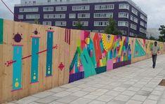 Le street art embellit les palissades de chantier à Massy - Le Parisien