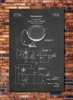 Pacemaker Patent Print Art 1960 by CatkumaPatentPress on Etsy