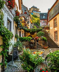 """This fairy tale town is known as the """"Sleeping Beauty"""" of the Moselle Valley 😍 Beilstein, Rheinland-Pfalz, Germany. Photo by ,. Places Around The World, Oh The Places You'll Go, Places To Travel, Travel Destinations, Around The Worlds, Beautiful Places To Visit, Wonderful Places, Beautiful World, Beautiful Scenery"""