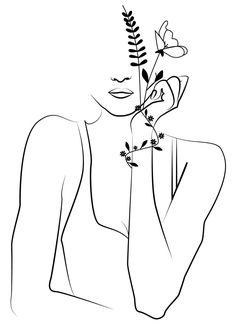 Minimalist Drawing, Minimalist Art, Pencil Art Drawings, Art Drawings Sketches, Outline Art, Abstract Line Art, Graphic Illustration, Digital Illustration, Embroidery Art