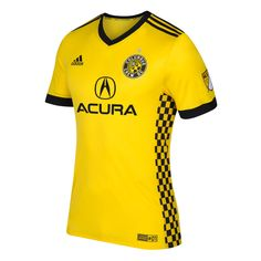 Men's Columbus Crew SC adidas Yellow 2017 Primary Authentic Team Jersey
