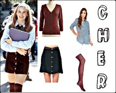Cher #Clueless inspired #fashion for the movie's 18th birthday! Click for descriptions and where to buy! Clueless Fashion, Clueless Style, Cher Clueless, What To Wear Today, How To Wear, Cool Style, My Style, Skater Skirt, Style Inspiration
