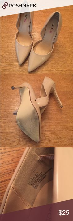 """Just Fab Neutral Pumps Size 8 Worn once! 5"""" heel. JustFab Shoes Heels"""