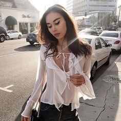Sunday's street style  @rumineely in the Eva Blouse. #ForLoveandLemons by forloveandlemons