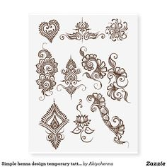 A stunning collection of original henna tattoo stencils and beautiful body art designs by professional mehndi artists. Arte Mehndi, Mehndi Art, Henna Mehndi, Hand Henna, Mehendi, Henna Hands, Henna Designs Easy, Henna Tattoo Designs, Mehndi Designs