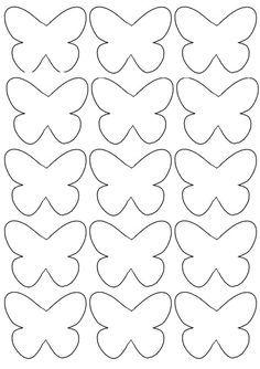 Guirnalda Mariposas de Papel | http://papelisimo.es/guirnalda-mariposas-de-papel/