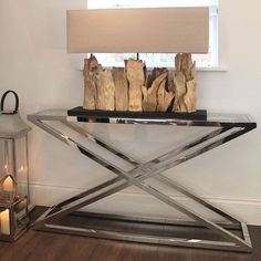 Wide Driftwood Table Lamp