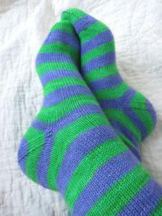 hand knit stripe socks