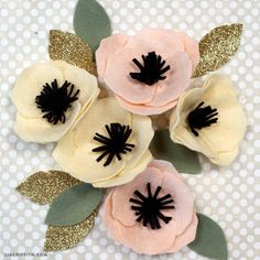 Make a felt peony flower that will last forever! Use these peonies for your home, party, or special event decor. Design by handcrafting expert Lia Griffith