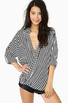 Twisted Stripes Blouse