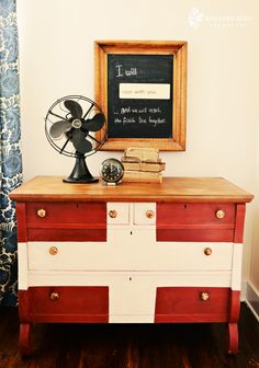 'swiss miss' styled dresser by Miss Mustard Seed