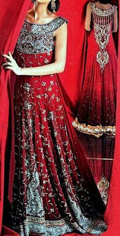 Latest Pakistani designer bridal dresses 2013 will now available in market. This Pakistani bridal collection consists of unique, attractive and decent dresses. Beautiful Bridal Dresses, Red Wedding Dresses, Pakistani Wedding Dresses, Pakistani Outfits, Indian Dresses, Pakistani Clothing, Reception Dresses, Pakistani Bridal Lehenga, Latest Bridal Lehenga