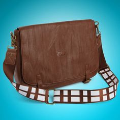 ThinkGeek :: Star Wars Chewbacca Messenger Bag -- if it was real leather I would have already purchased it :(