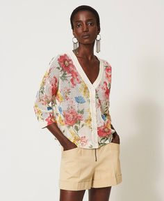 Double Usage, Cotton Jumper, Jumpers For Women, Unique Outfits, Farmer, Knitwear, Floral Prints, Jeans, Sleeves