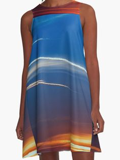Traces in the Sky Dress by Scar Design #summerclothing #summervacationsdress #beachdress #beach #summerfashion #giftsforher #gifts #giftsforteens #summergifts #womensfashion #hipster #colorful #style #swag #sunset #sunsetdress #dress #summerdress #summer2016 #buydress #Alinedress #buydresses