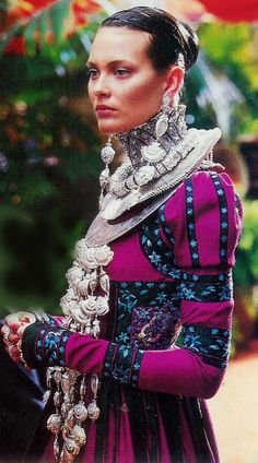 Chinese style dressing with Miao jewelry.  Dior by John Galliano.