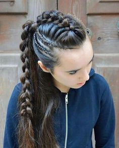 Pin by Gladys Avila on Beauty in 2019 « Fast Hairstyles braids Pin by Gladys Avila on Beauty in 2019 French Braid Hairstyles, Box Braids Hairstyles, Pretty Hairstyles, Girl Hairstyles, Viking Hairstyles, School Hairstyles, Teenage Hairstyles, Unique Hairstyles, Hair And Beauty