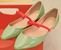 $11.9 ● Koin ● Japanese candy-colored bow single shoes retention models-ZZKKO