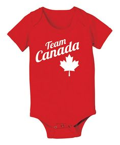Take a look at this Red 'Team Canada' Bodysuit - Infant by KidTeeZ on #zulily today!