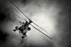 Chinook coming out of the clouds at a rather wet RIAT 2011
