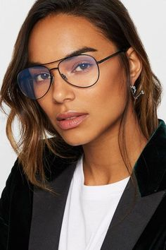 e3f308427f45 SAINT LAURENT cool Aviator-style metal optical glasses